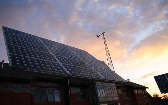 Solar panels at ELLC residence hall