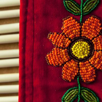 Native American bead cloth