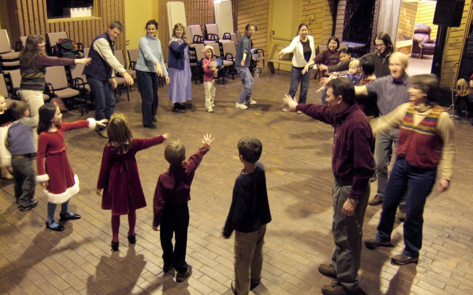 People in a circle dancing