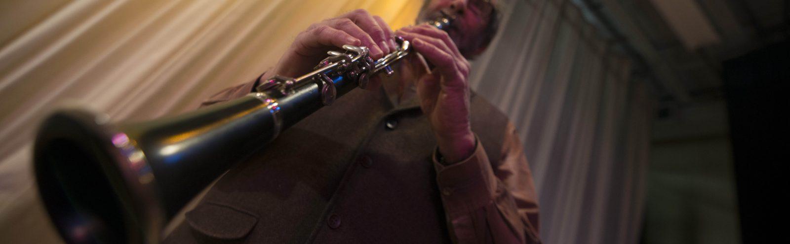 Northland College Professor Joel Glickman plays clarinet