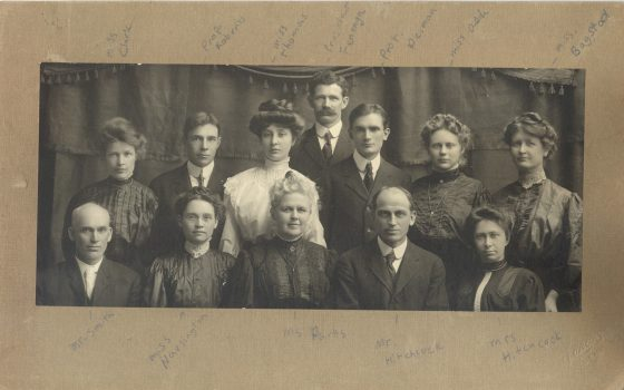 historic photo of faculty