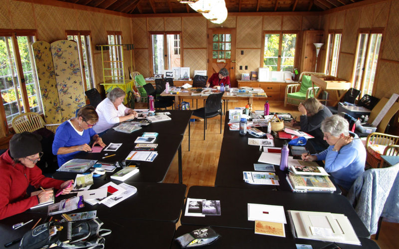 Northland College lifelong learning artists retreat class.