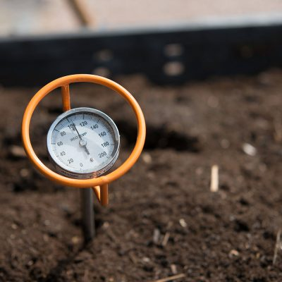 Northland College compost thermometer. composting program