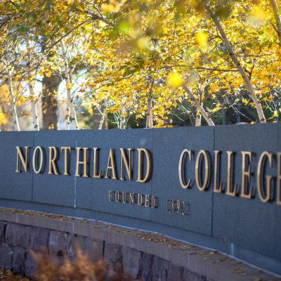 Northland College sign