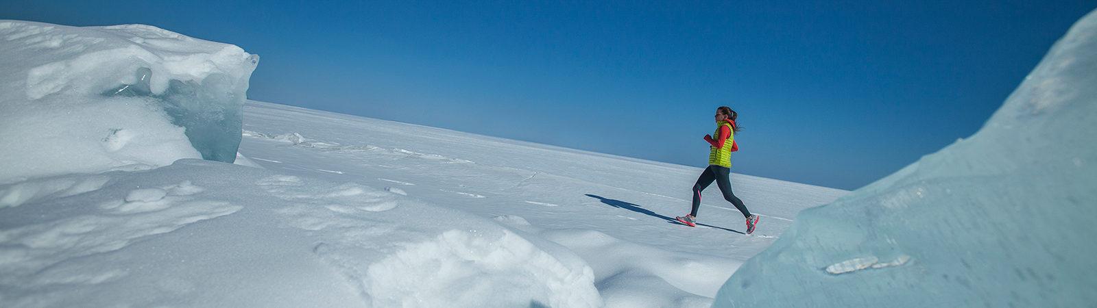 Winter Runner on Lake Superior