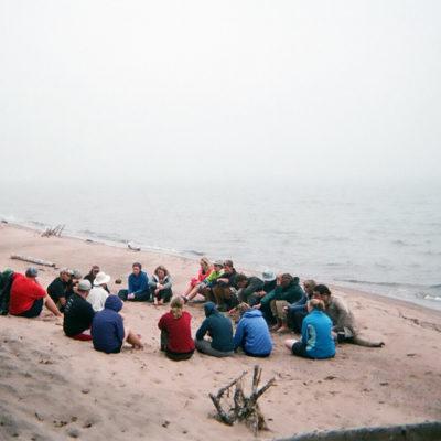 Northland Outdoor Orientation Group Beach Campfire