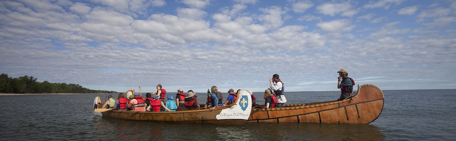 Northland College voyageur canoe outdoor orientation