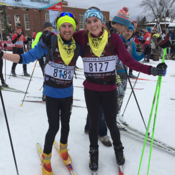 Northland College students at the American Birkebeiner Ski Race
