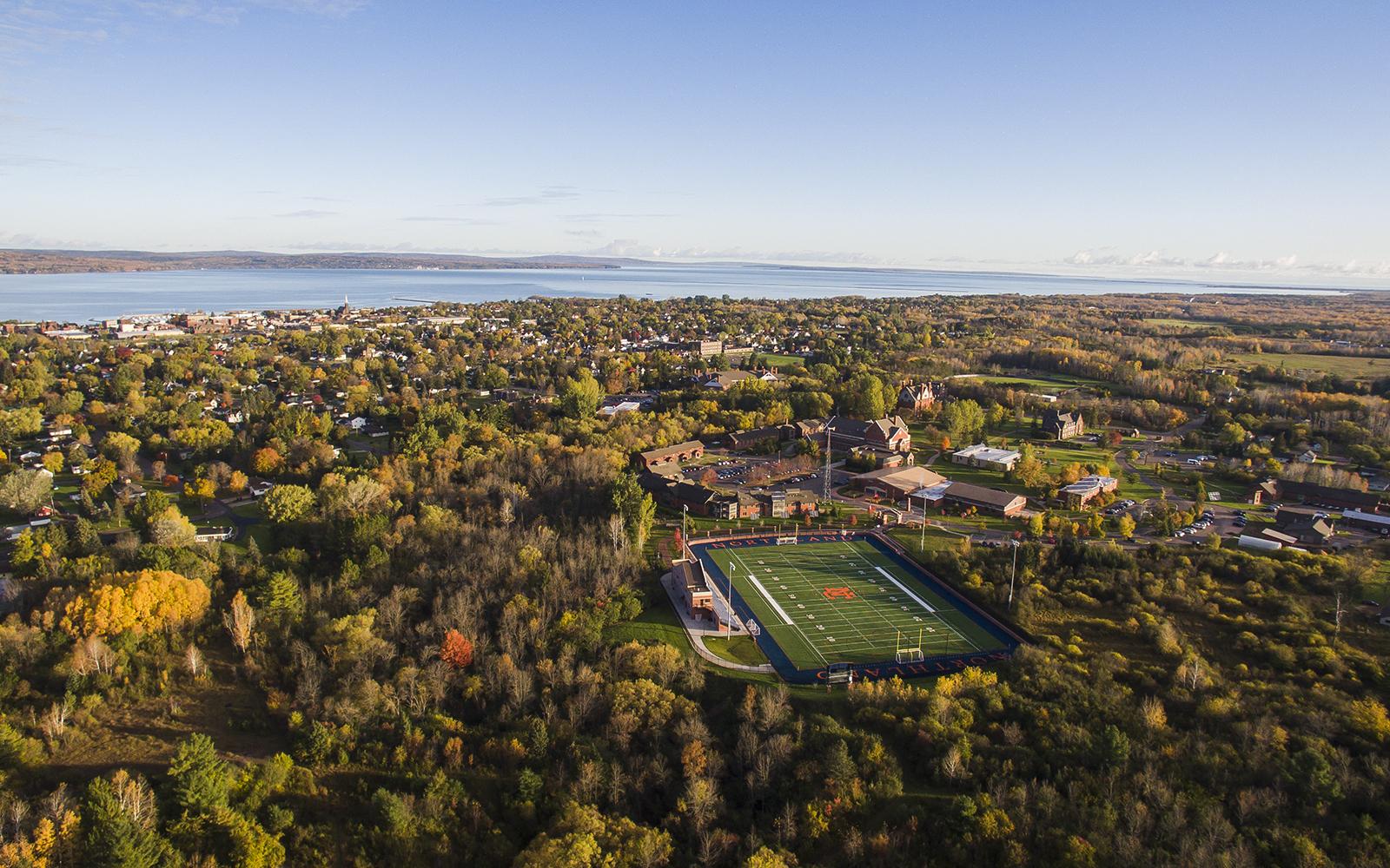 Northland College ariel view.