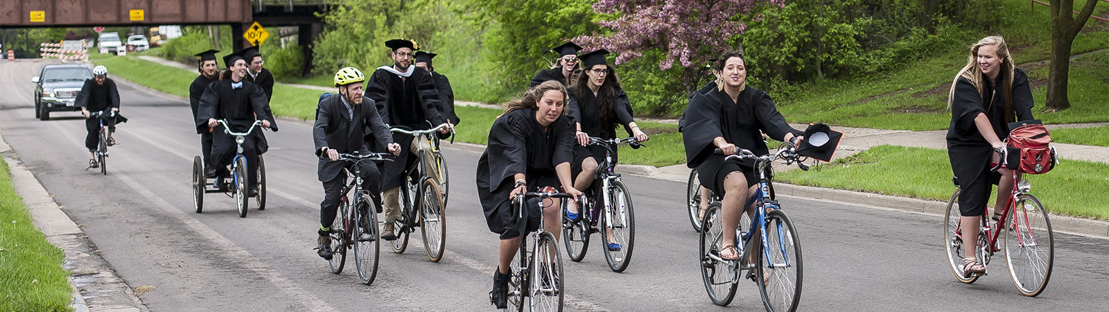 Northland College Commencement bike ride