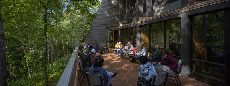Deck of the Sigurd Olson Environmental Institute