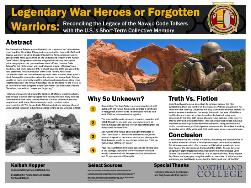 Legendary War Heroes or Forgotten Warriors? Reconciling the Legacy of the Navajo Code Talkers
