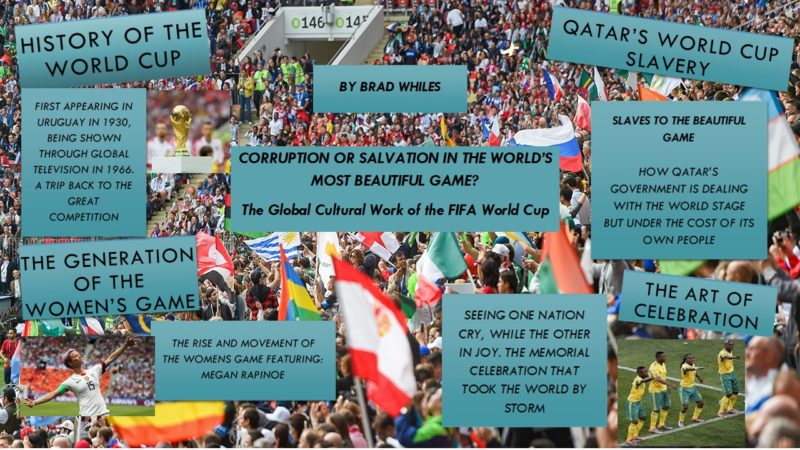 Corruption or Salvation in the World's Most Beautiful Game? The Global Cultural Work of the FIFA World Cup